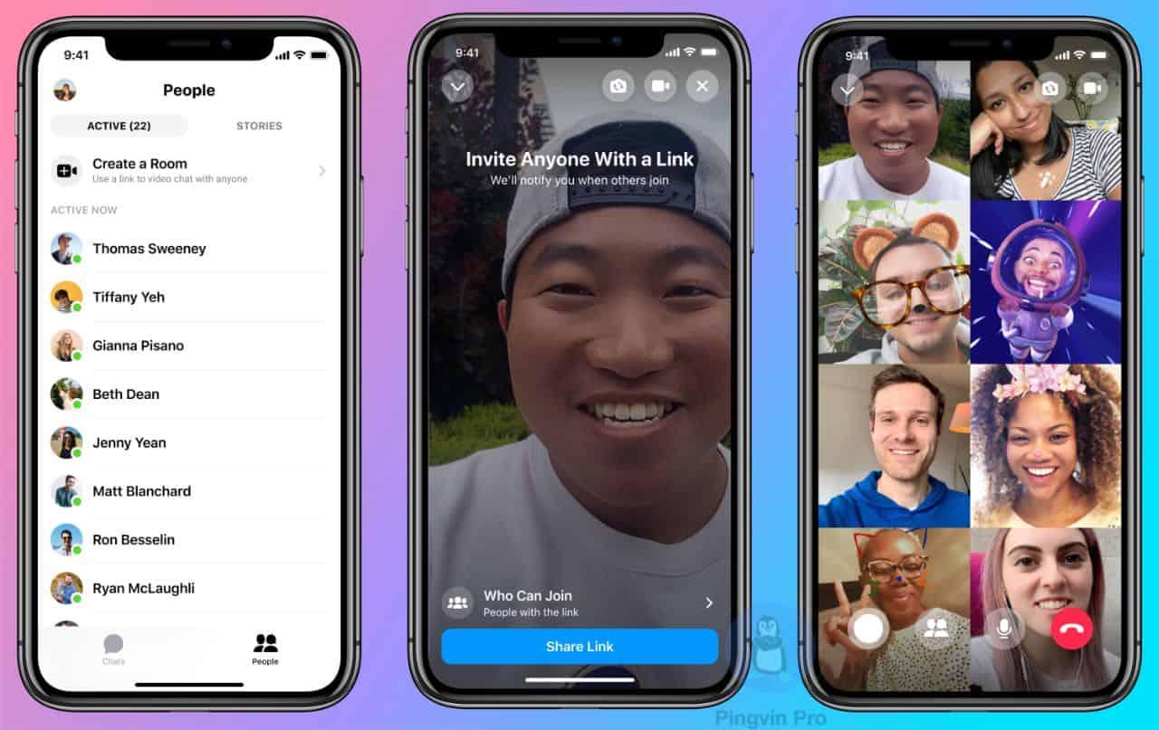 Facebook Rooms – відеодзвінки ліміт до 50 осіб