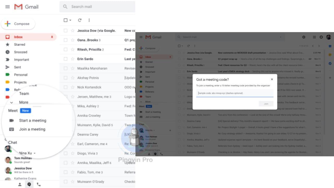 Google Meet отримав нові функції та інтеграцію з Gmail