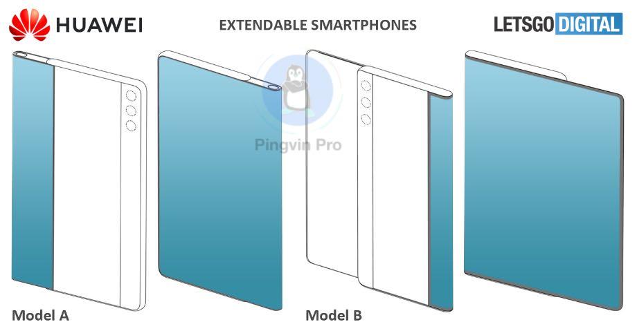 Huawei запатентувала розсувні смартфони