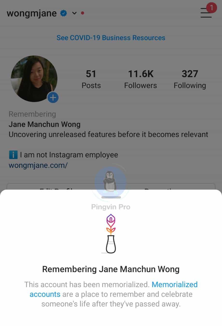 В Instagram з'явиться позначка для «померлих» профілів