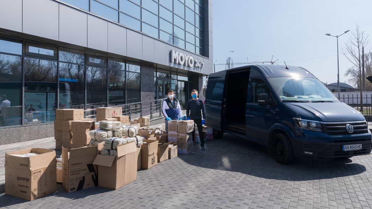 Національна мережа магазинів техніки MOYO передала допомогу лікарням