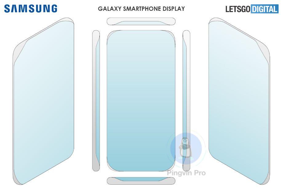 Samsung запатентувала новий безрамковий дисплей
