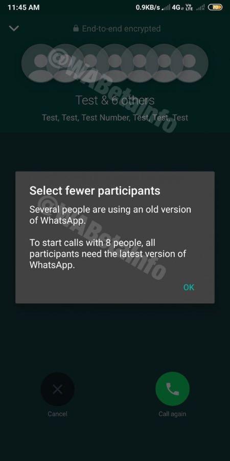 WhatsApp збільшив ліміт учасників групових дзвінків