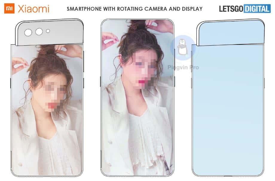Xiaomi запатентувала смартфон з поворотним дисплеєм