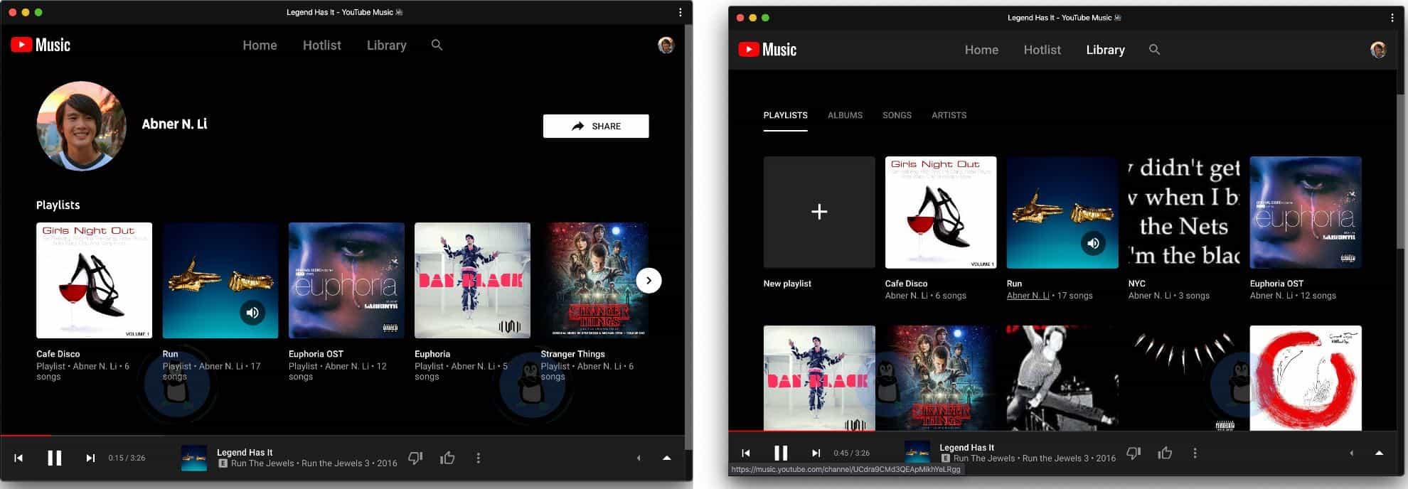 YouTube Music тестує оновлені профілі користувачів