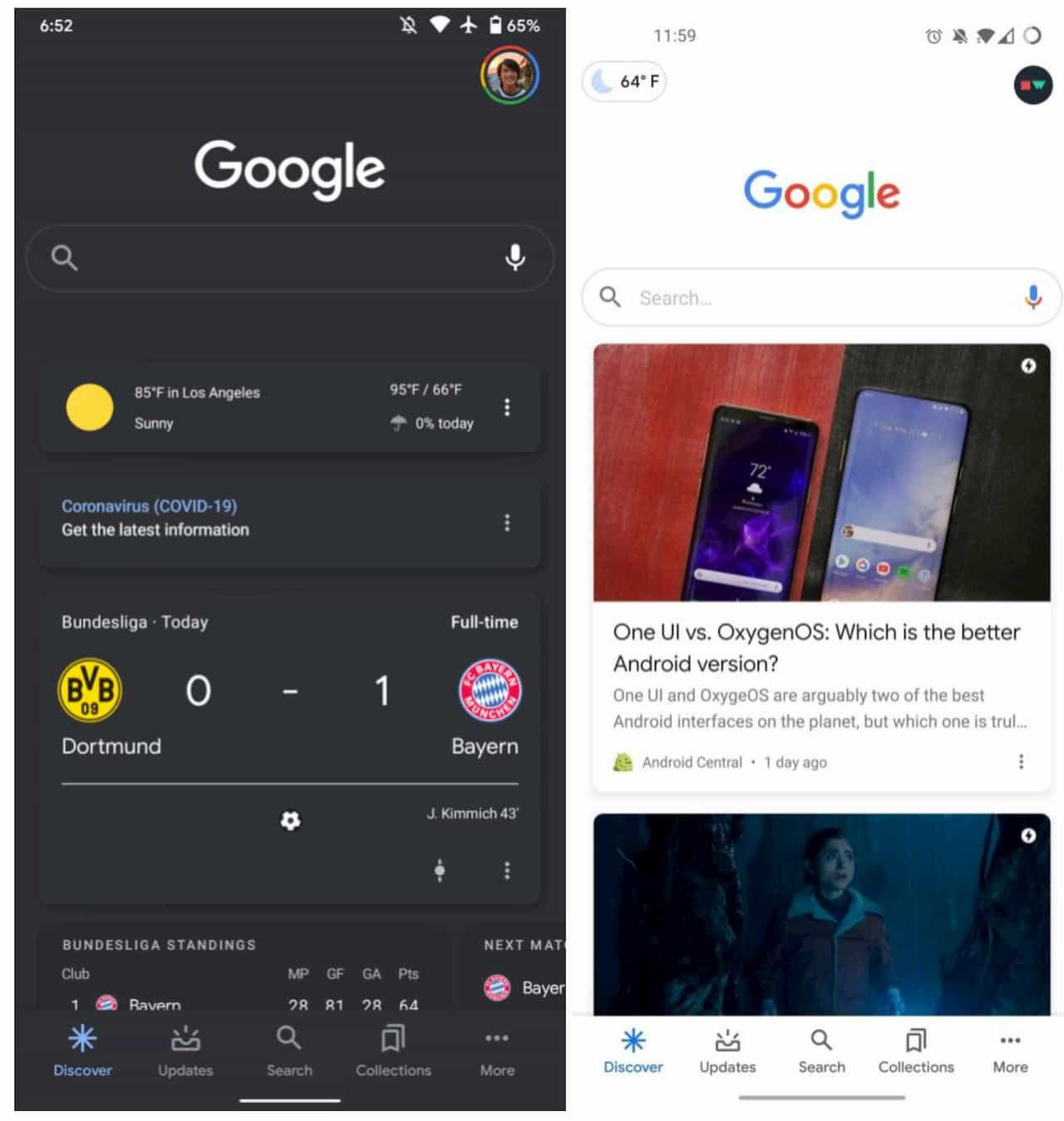 Google запустив новий віджет погоди у своєму додатку