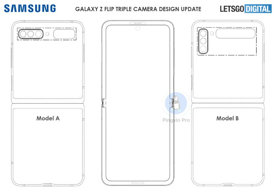 Samsung експериментує з камерами в Galaxy Z Flip 2