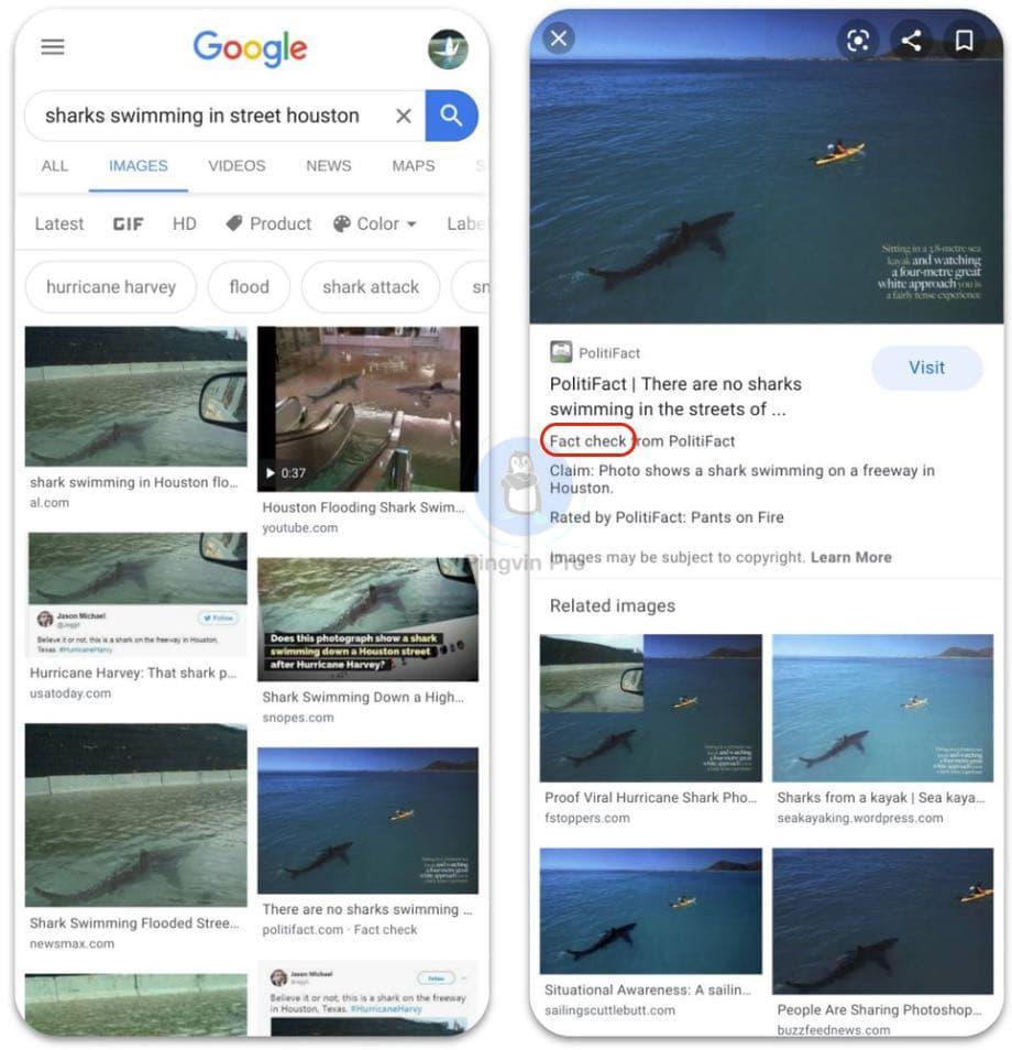 Google запустив функцію перевірки зображень на автентичність