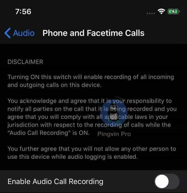 В iOS 14 може бути запис дзвінків