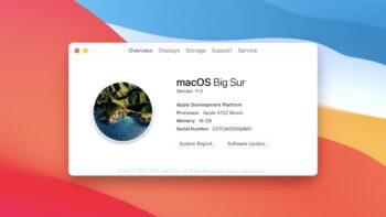 Apple Mac на ARM-процесорах (macOS Big Sur - Apple A12Z Bionic)