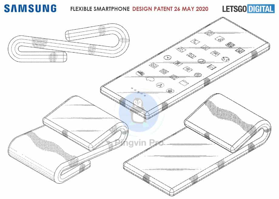 Samsung запатентувала дуже гнучкий дисплей