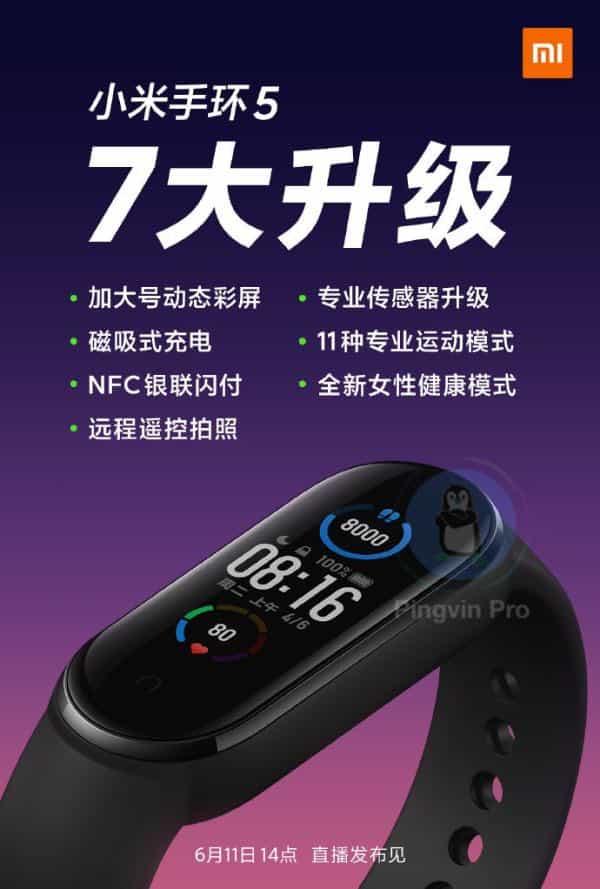 Xiaomi підтвердила ключові особливості Mi Band 5