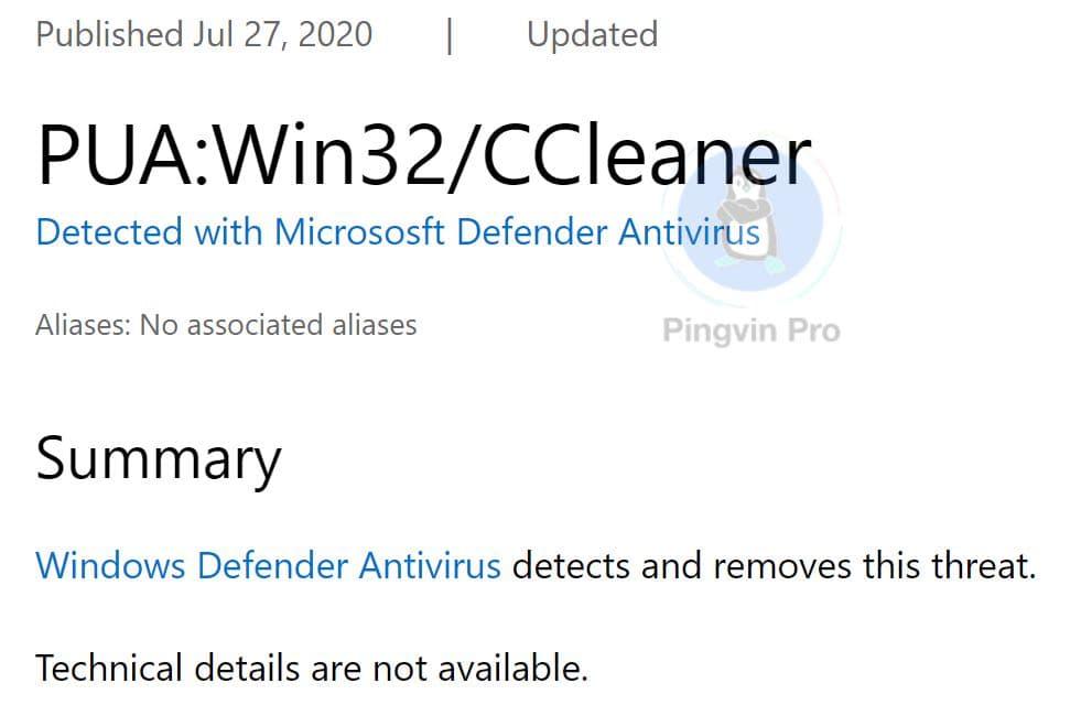 Microsoft позначила CCleaner як потенційно небажаний