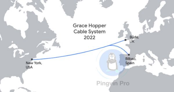 Google прокладе мережевий кабель Grace Hopper по дну Атлантичного океану