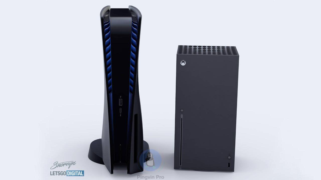 Sony PlayStation 5 black vs Xbox Series X