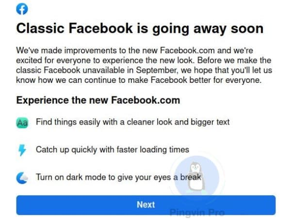 Старий інтерфейс Facebook зникне назавжди