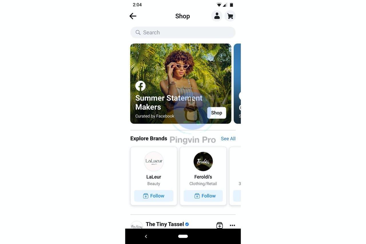 Facebook запускає нову вкладку Facebook Shop