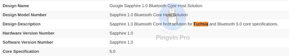 Fuchsia OS Bluetooth SIG