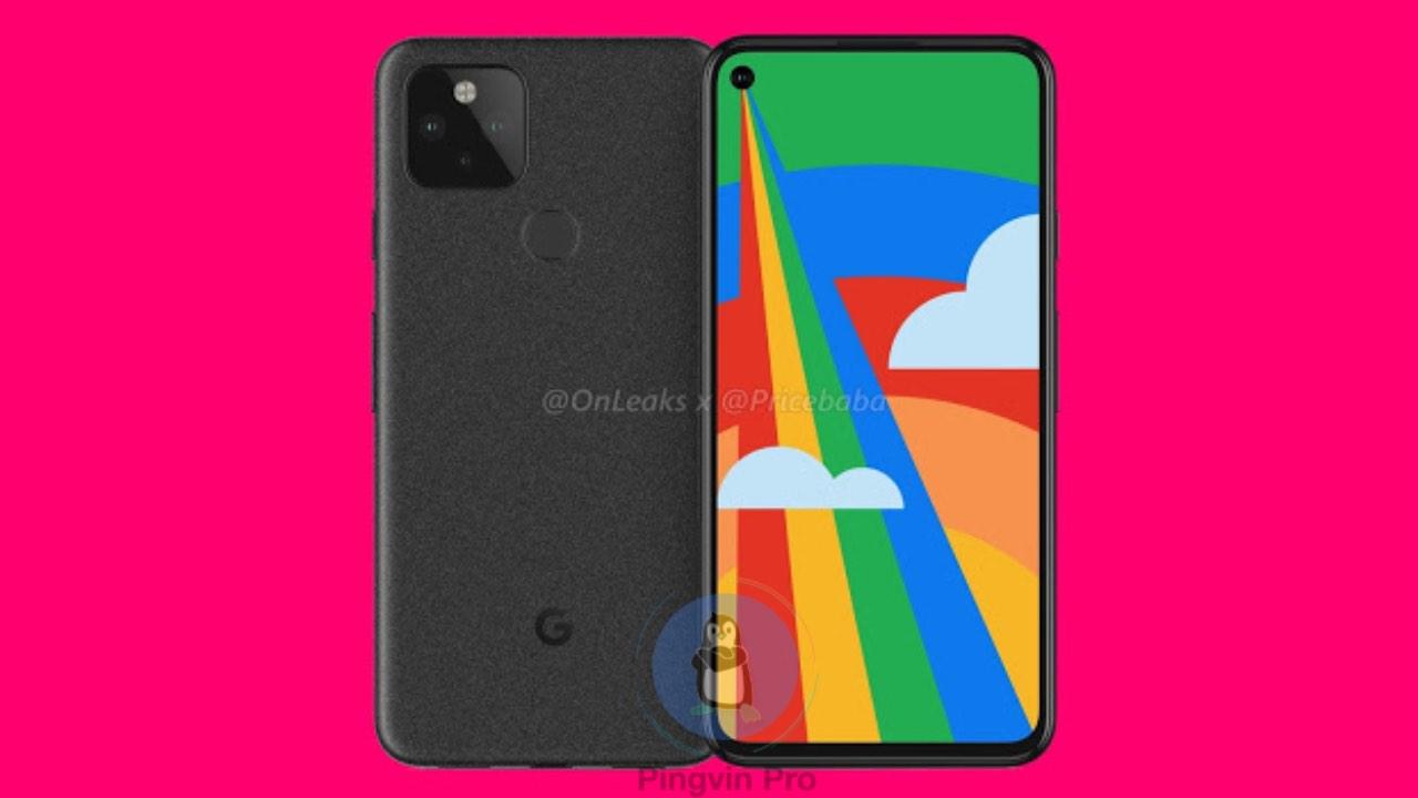 Google Pixel 5 показали на рендері