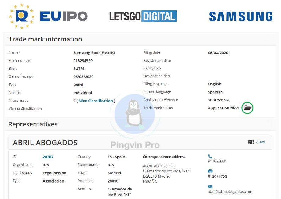 Samsung випустить новий ноутбук Galaxy Book Flex 5G