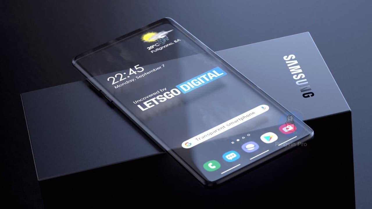 Samsung розробляє повністю прозорий смартфон