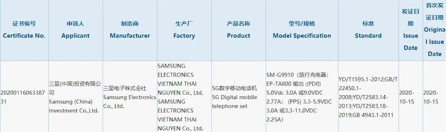 Galaxy S21 пройшов процес сертифікації 3C