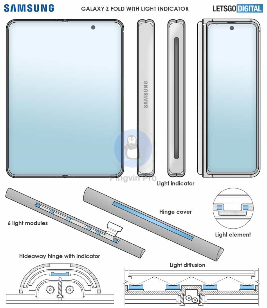 Патент Samsung Galaxy Z Fold 3