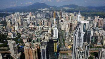Шеньчжень - Китай (В Китаї роздали 10 млн цифрових юанів обраним громадянам)