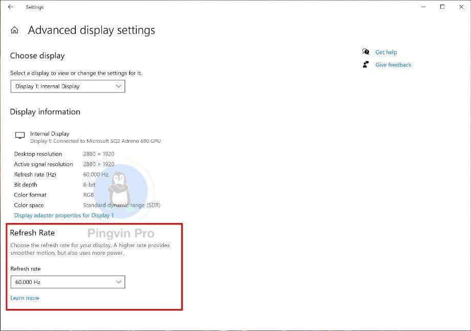 Windows 10 отримає функцію зміни частоти оновлення екрана