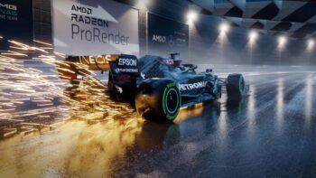 AMD Radeon ProRender Mercedes-AMG F1 W11 EQ Performance