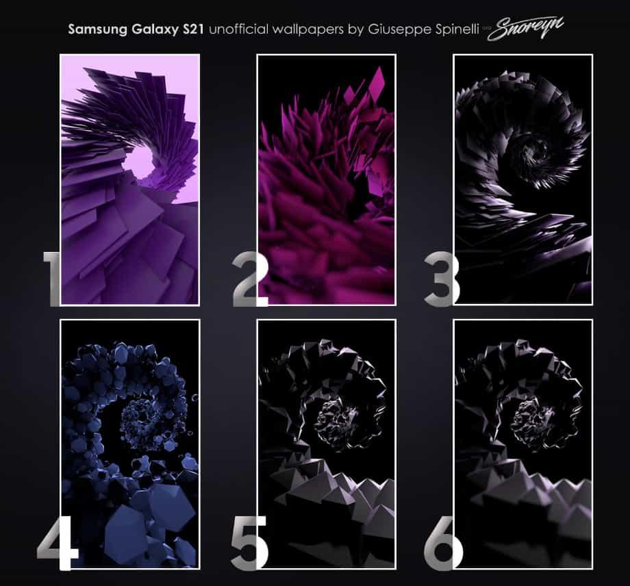 Samsung Galaxy S21 шпалери