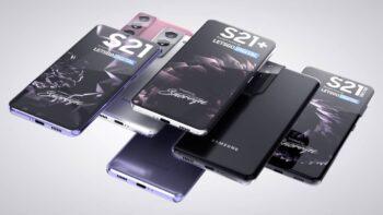 Samsung Galaxy S21 рендер