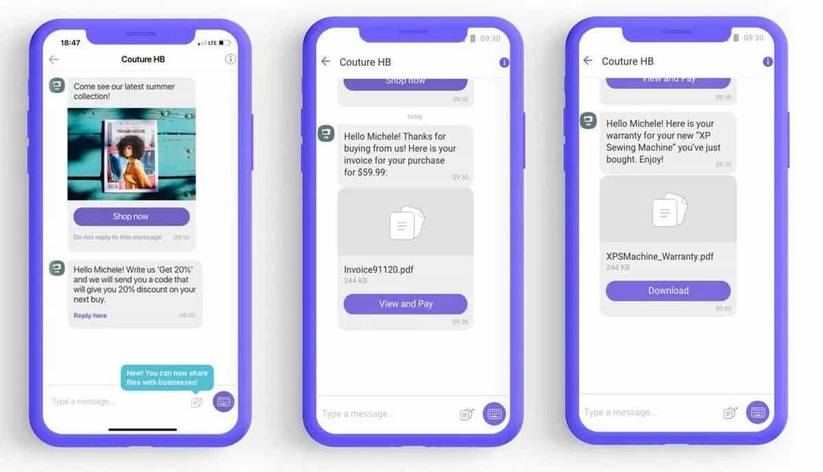 Viber запустив нову функцію File Sharing