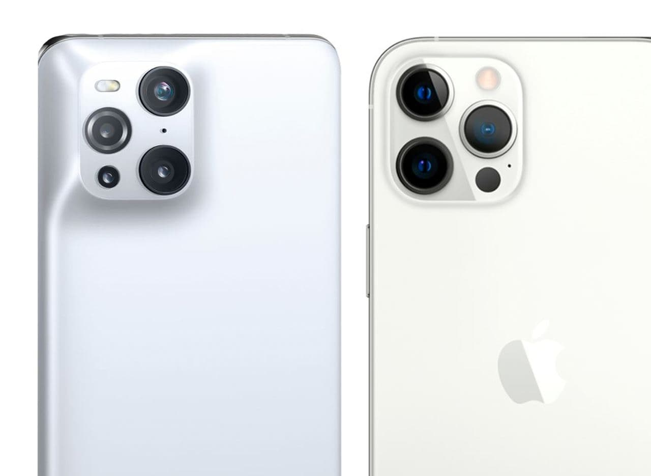 OPPO Find X3 Pro порівняли з iPhone 12 Pro