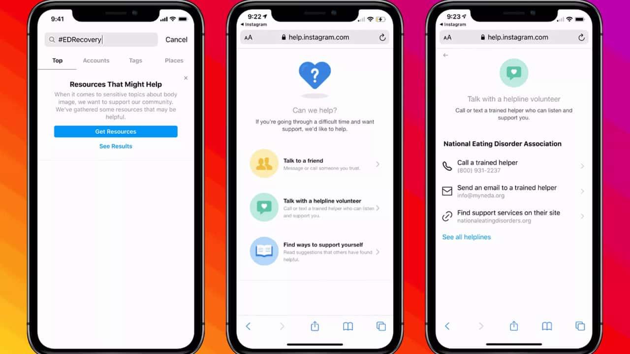Instagram додає ресурси для допомоги користувачам з РХП