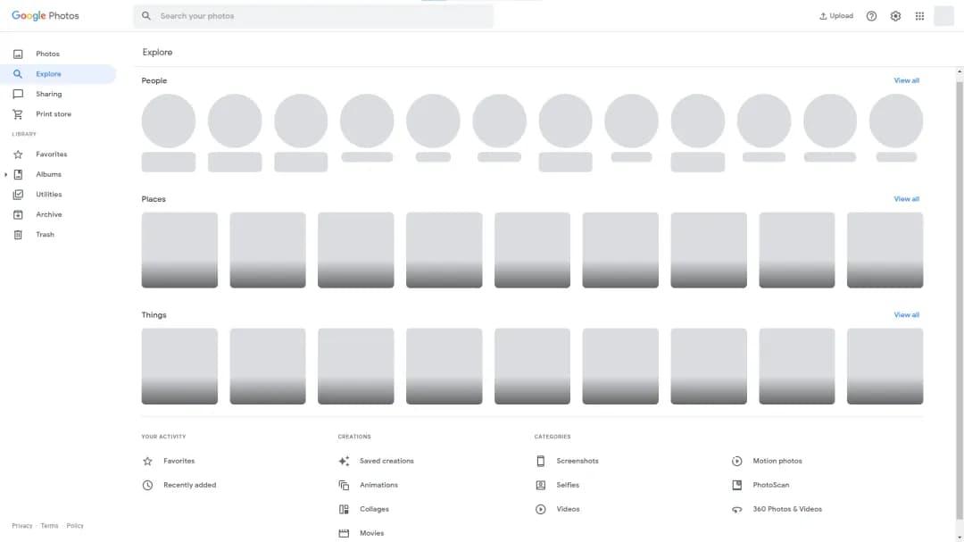 Веб-версія Google Photos стає подібною на мобільні застосунки