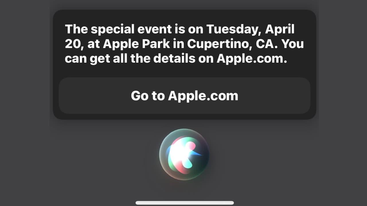 Siri назвала дату наступної презентації Apple