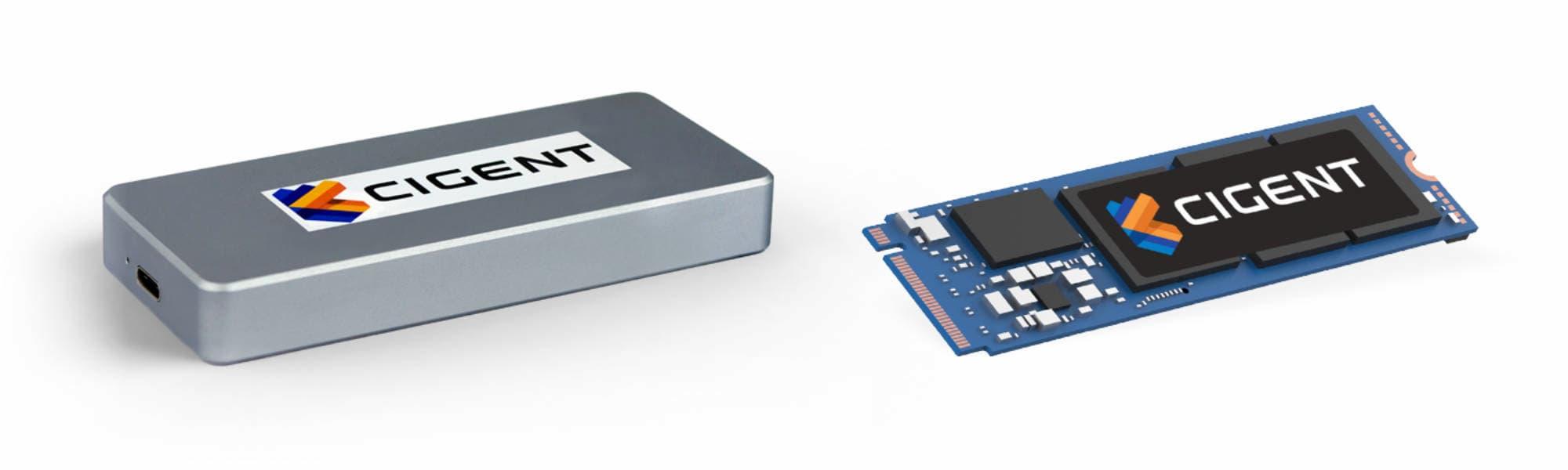 Cigent Secure SSD K2 (зовнішній, внутрішній)