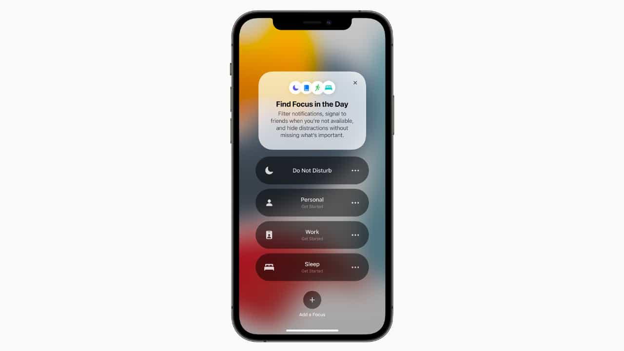 Focus (Фокусування) - iOS 15
