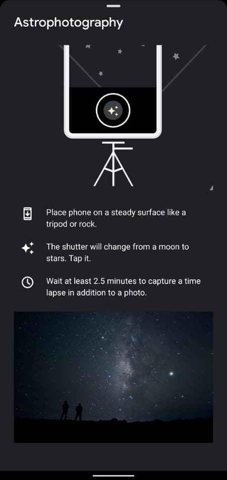 Google Camera 8.2.400 Astrophotography