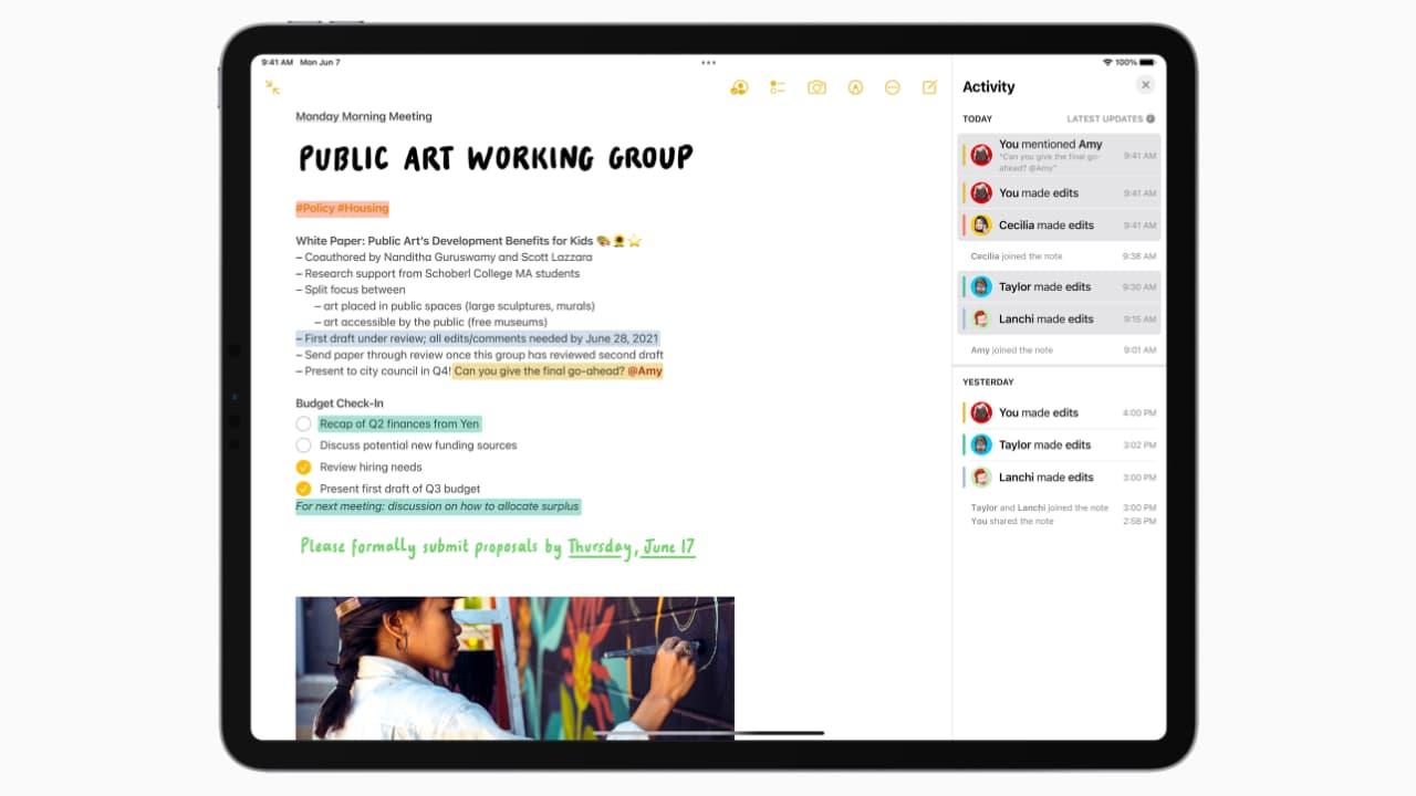 Нотатки - iPadOS 15