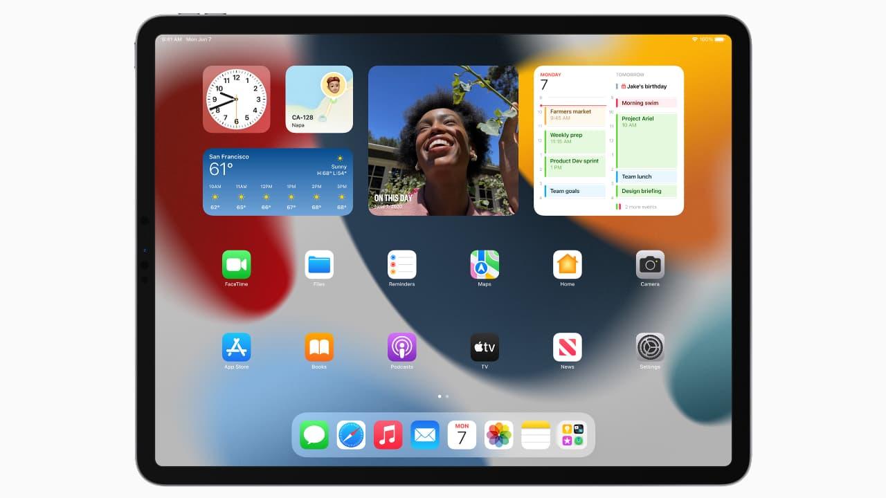 Упорядкування віджетів - Бібліотека додатків - iPadOS 15