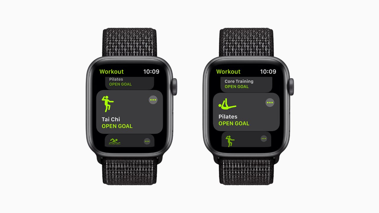 watchOS 8 нові типи тренувань