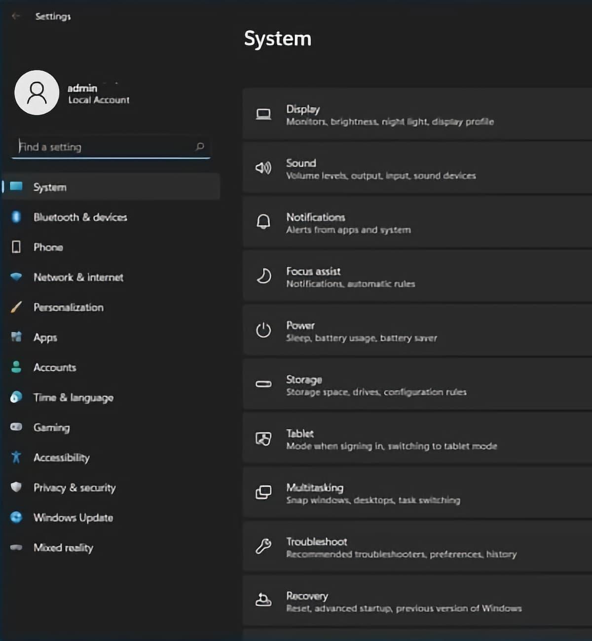 Windows 11 - Настройки