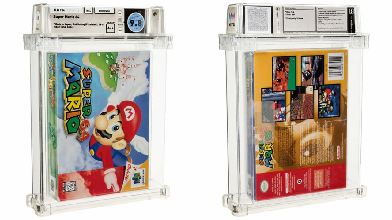 Картридж з грою Super Mario 64