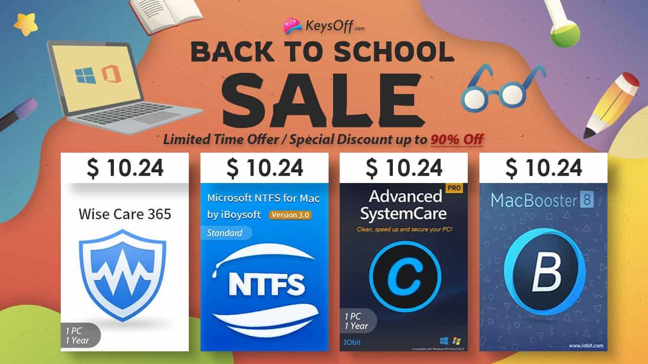 Назад до школи - знижки від Keysoff