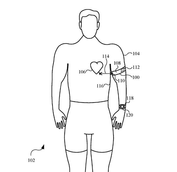 Патент ЕКГ-пов'язка Apple